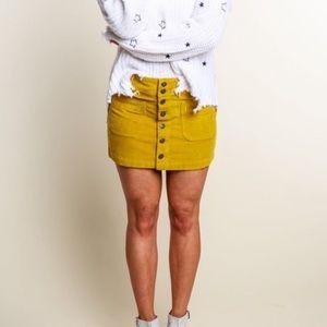 NWT Free People Joanie Mini Skirt